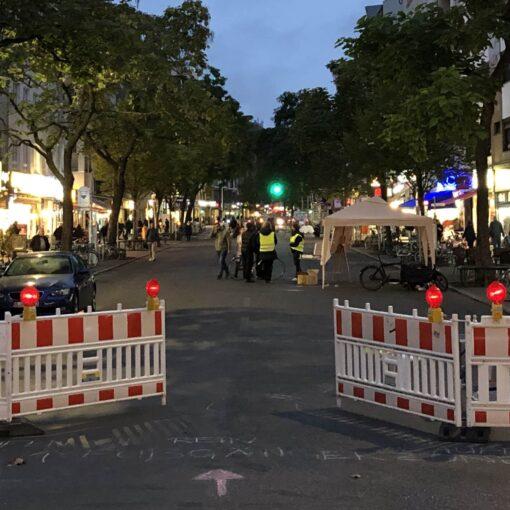 temporäre Fußgängerzone Wilmersdorfer Straße